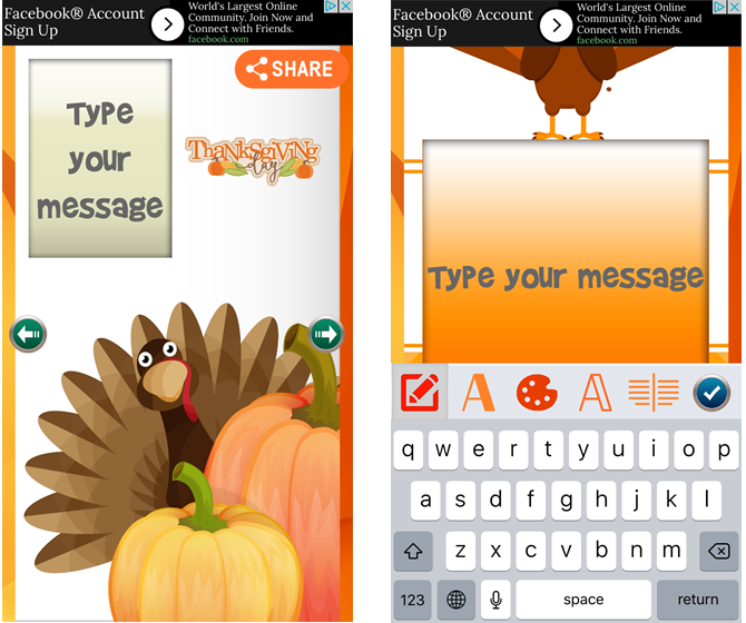 Thanksgiving Day Greetings Free iPhone