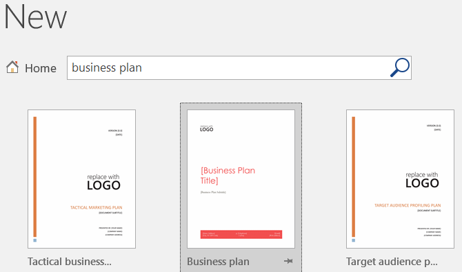 word template business plan