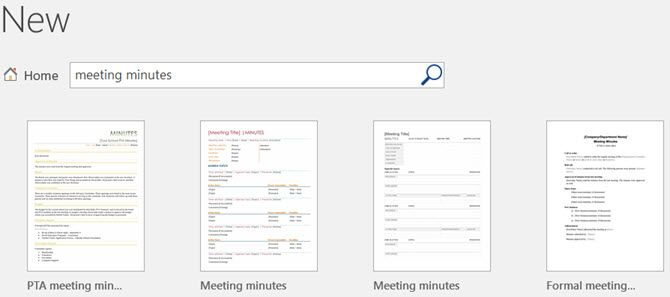 microsoft word meeting minutes template