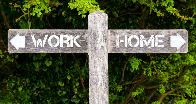Signpost Work Home