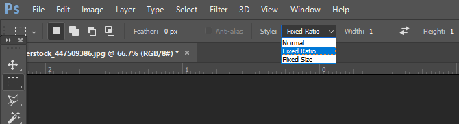Photoshop Aspect Ratio Setting