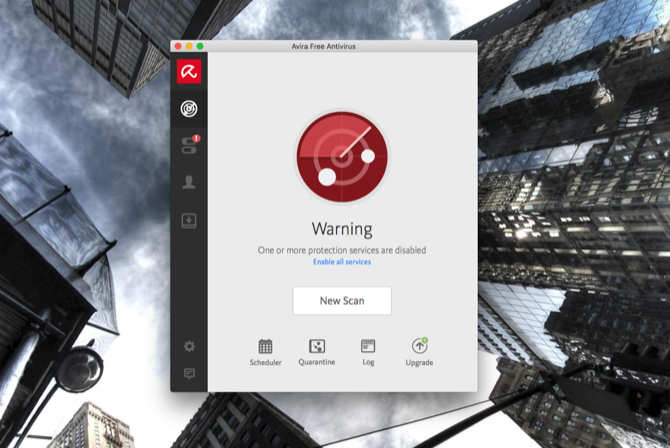 Avira Warning