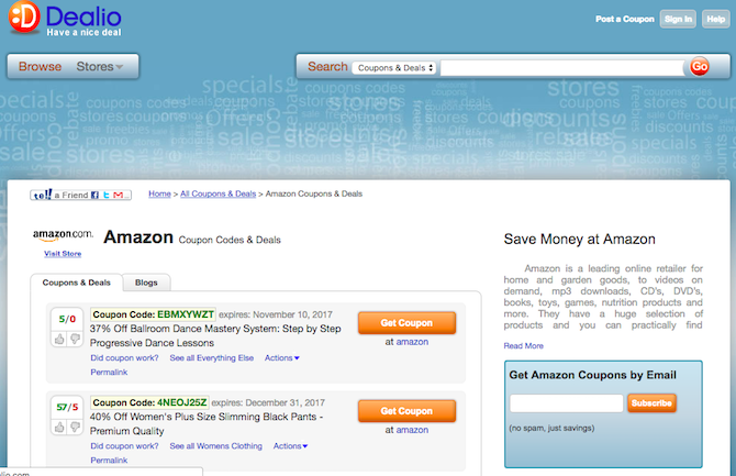 5 online sources for amazon promotional codes and coupons best amazon coupons codes dealio fandeluxe Choice Image