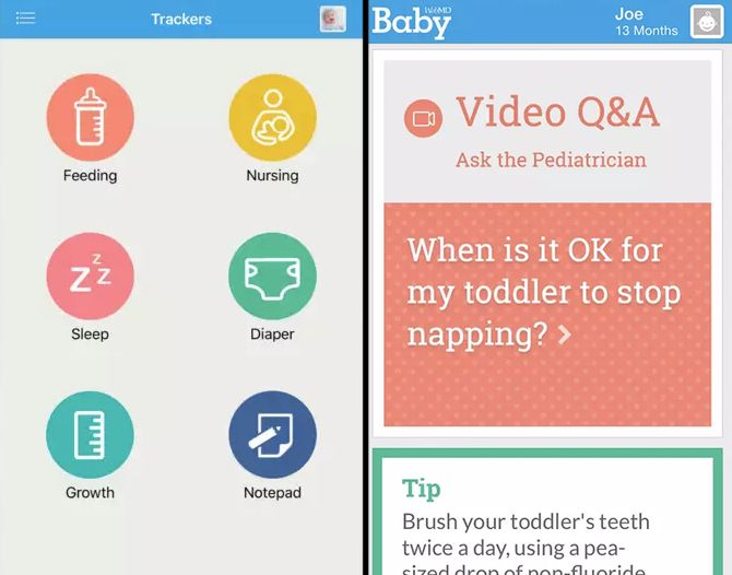 Apps for Parents -- WebMD Baby