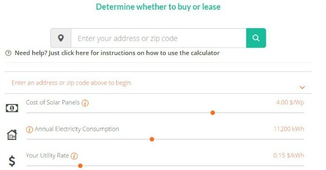buy or lease solar calculator
