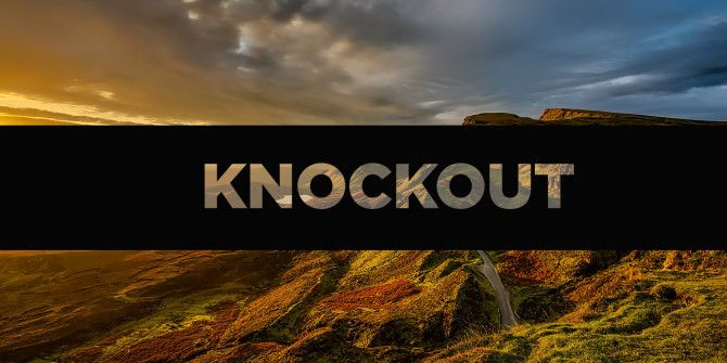 How to Create a Knockout Effect in Photoshop and Illustrator