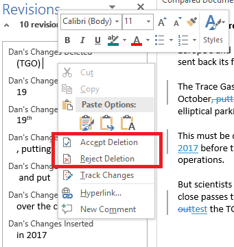 microsoft word compare docs accept changes