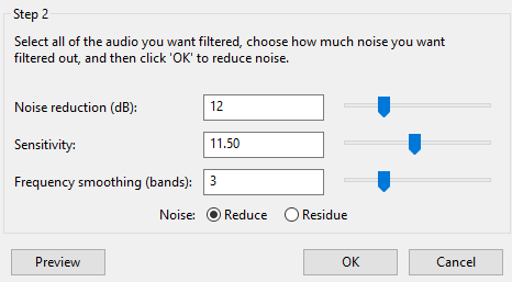 keep voice remove background noise and music