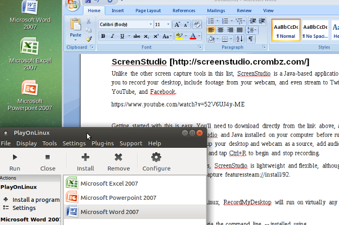 Run Microsoft Office 2007 on Linux