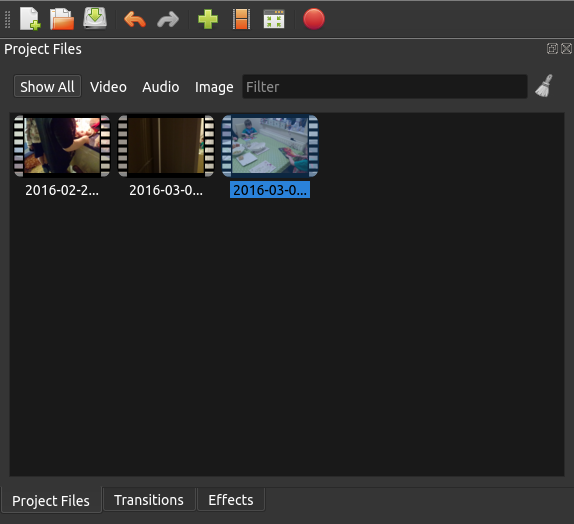Linux OpenShot 2.0 Files