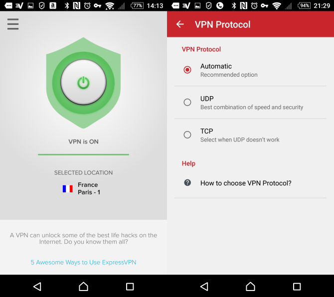 ExpressVPN App on Android