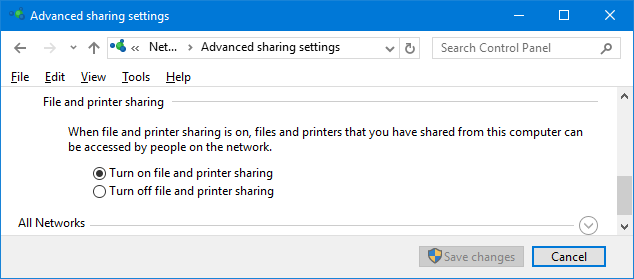 printer sharing homegroup