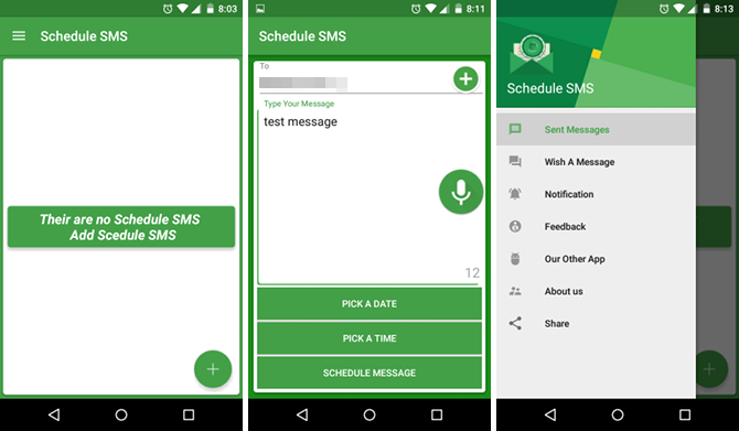 sms scheduler for android mobile