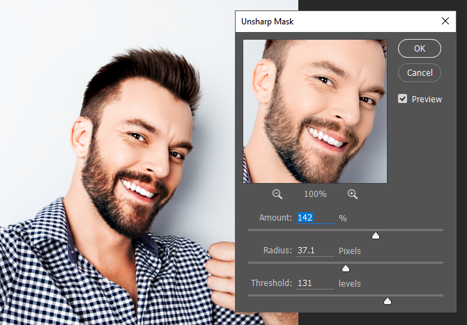 Photoshop Unsharp Mask Parameters