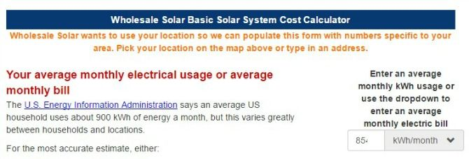 wholesale solar calculator
