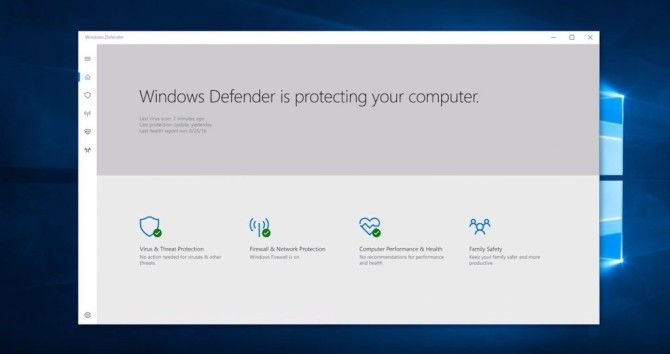 Windows 10 Creators Update -- Defender