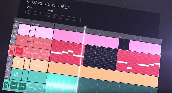 Windows 10 Creators Update -- Groove Music Maker