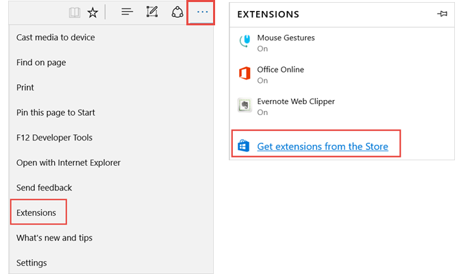 get extensions microsoft edge