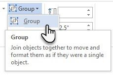 Microsoft Word - Group Shapes
