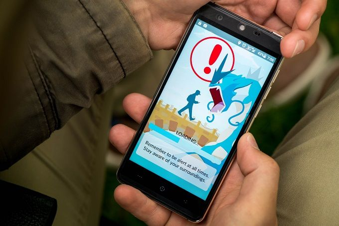Pokemon Go on Mobile Device
