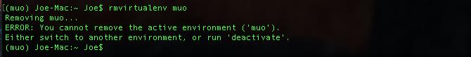 python virtual environment error