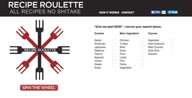 No time cook quick meals with these 12 recipe sites for everyone recipe roulette forumfinder Image collections