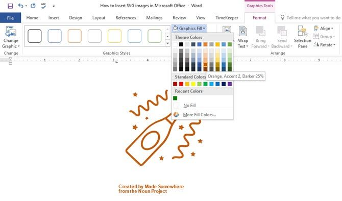 How To Insert Edit Scalable Vector Graphics In Office 2016