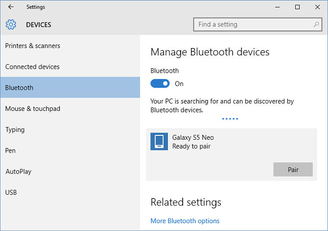 Windows 10 Bluetooth Pairing
