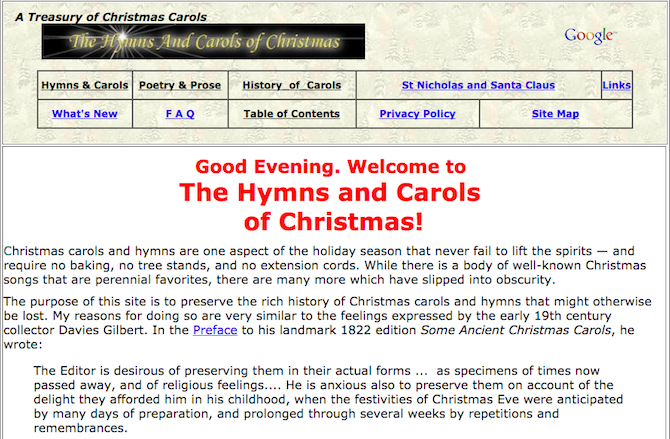 christmas carols songs music -- hymns and carols of christmas