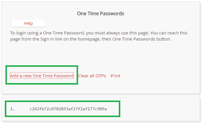 lastpass one-time password