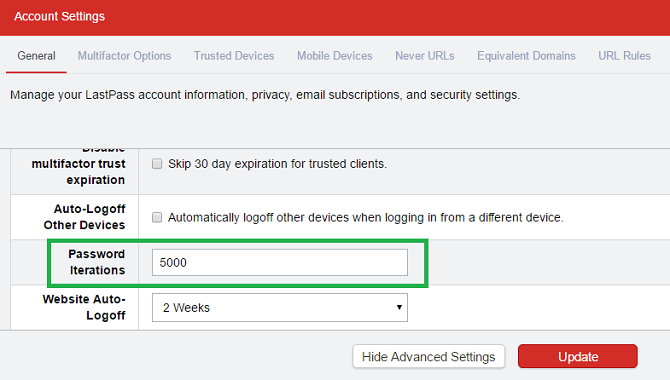 lastpass password iterations