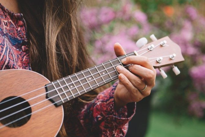 Woman Playing Ukelele