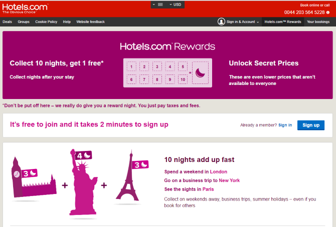Hotels.com Rewards Discounts