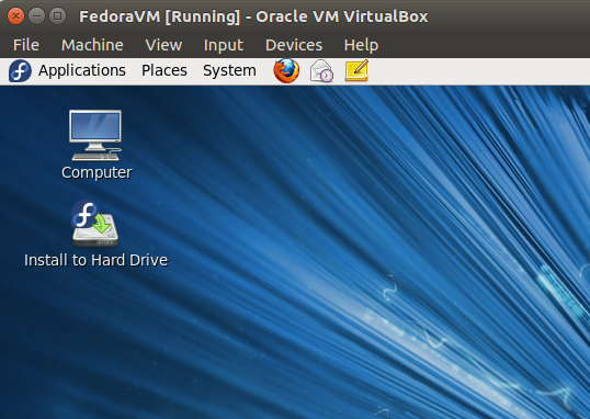 Run Fedora in a virtual machine