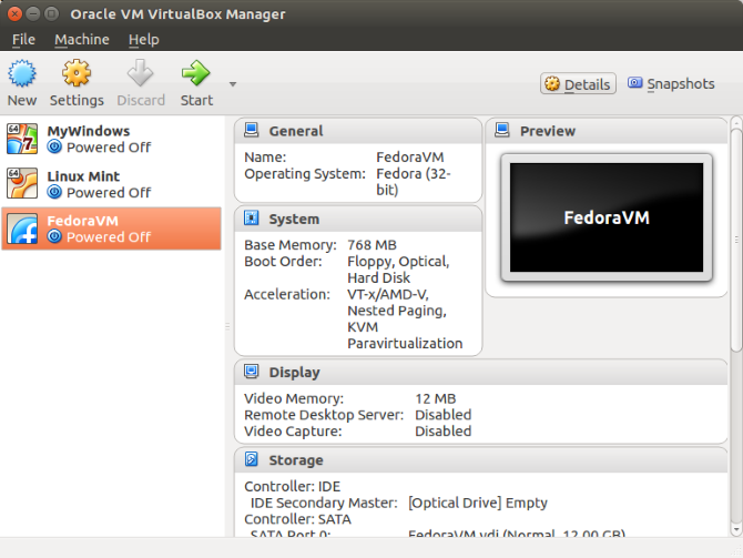 linux virtual machines virtualbox