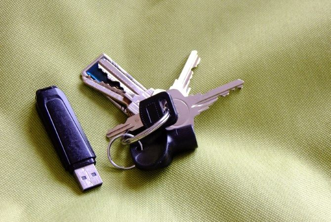 USB Drive on Keyring