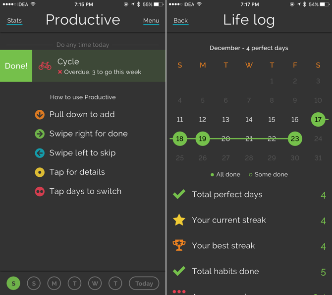 resolution iphone apps productive checking in
