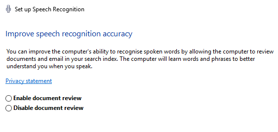 windows 10 speech recognition improve accuracy