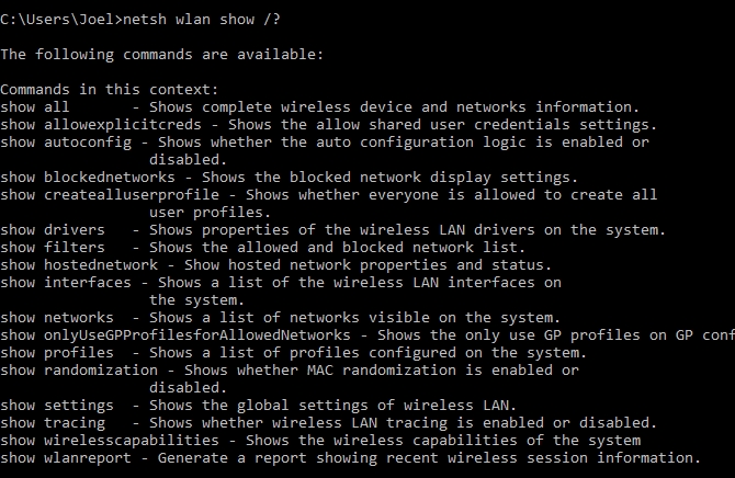 windows-command-netsh-subcommands