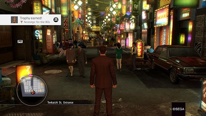Yakuza Is the Best Japanese Franchise You've Never Played 80s city