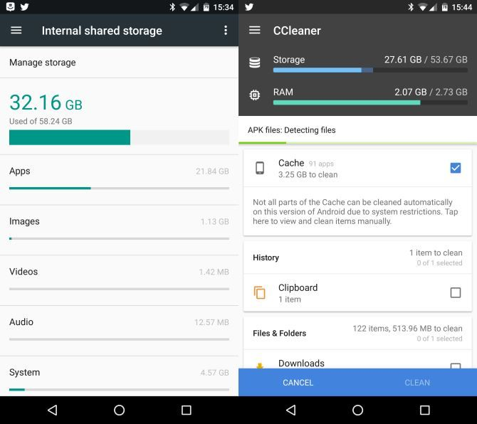 How to Survive Using an Old Android Phone with No Internal Memory Android Storage Usage