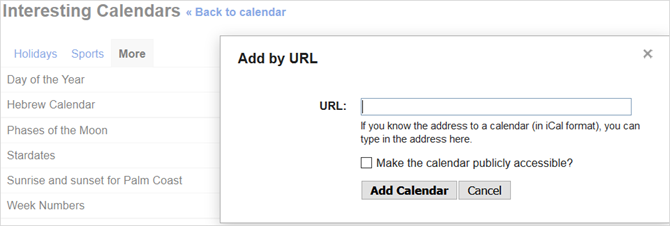 connect google calendars web