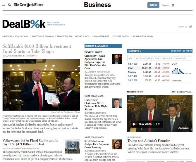 10 Financial Websites That Help You Stay On Top Of The Market DealBook