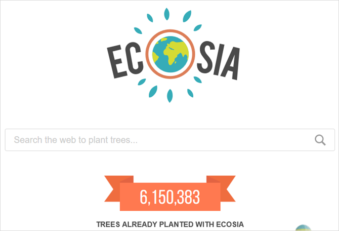 7 Google Search Alternatives and Their Trademark Features Ecosia main web