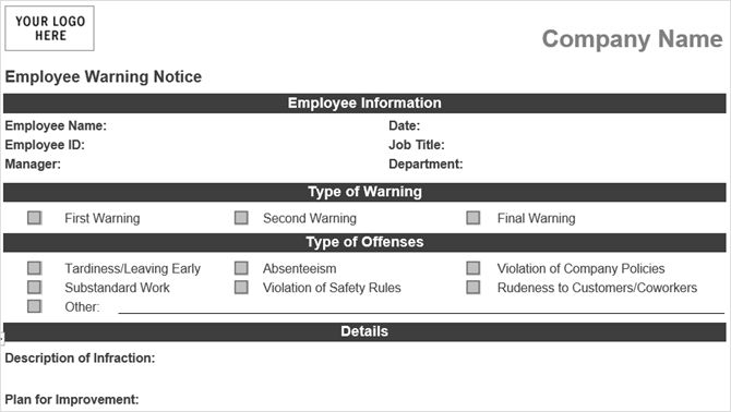 10 free business form templates you should keep handy 10 free business form templates you should keep handy employeewarning vertex42 accmission Gallery