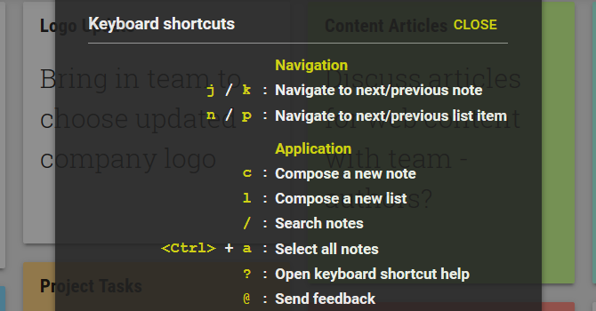 How to Use Google Keep for Simple Project Management GoogleKeepKeyboardShortcuts web