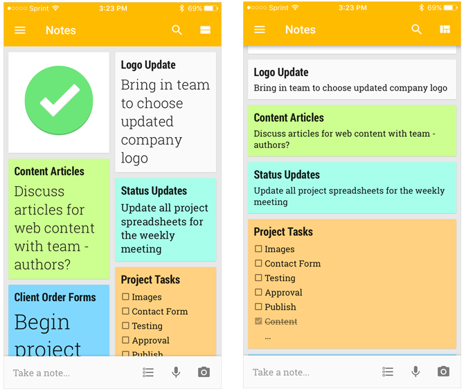 How to Use Google Keep for Simple Project Management GoogleKeepMainPageMobile iphone