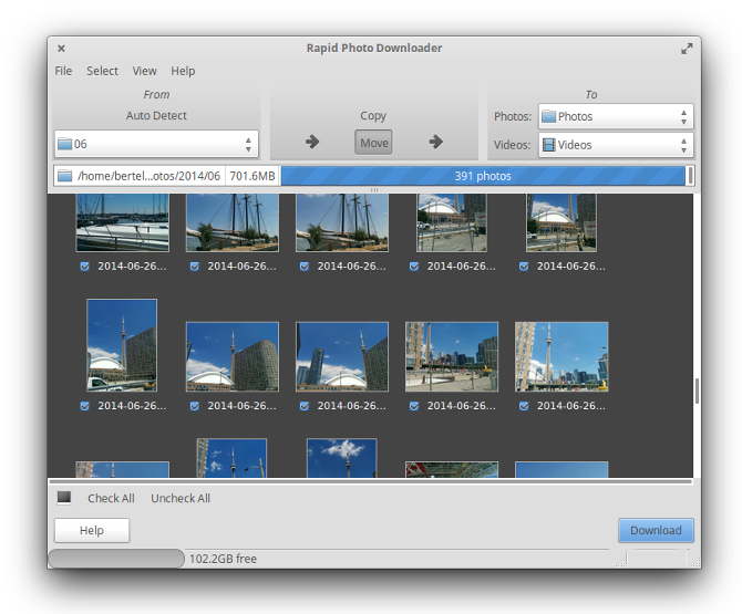 linux exclusive apps rapid photo downloader