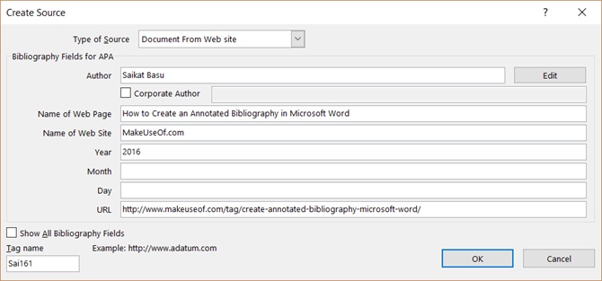 The Simple Guide to the Microsoft Word References Tab MSWord BibliographyCreateSource