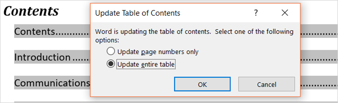 The Simple Guide to the Microsoft Word References Tab MSWord TOCupdatetable
